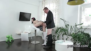Sensual schoolgirl is tempted and shagged by her elderly mentor