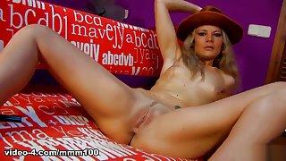 Shana Spirit & Jean in Great Blonde Shana Spirit Dancing And Stripping  - MMM100