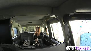 Booby tattooed woman fucked in the cab