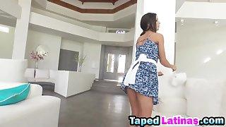 Nasty Latin maid gets tight pussy fucked