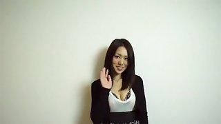 Horny Japanese chick Ann Yabuki in Incredible Big Tits, Fishnet JAV video