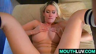 Sexy blonde girl Deanna Dare