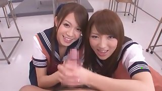 Incredible Japanese chick Shiori Kamisaki, Shelly Fujii, Yu Asakura in Crazy College, POV JAV video