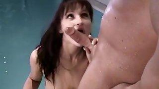 Incredible pornstar in horny blowjob, threesomes porn video