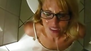 Naughty piss slut likes to drink straight from the fountain 4