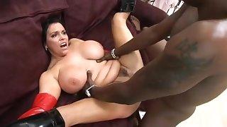 Hottest pornstar Angelica Sin in amazing big tits, interracial porn movie