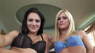 Fabulous pornstars Mckenzee Miles and Victoria Sin in best blowjob, hd sex scene
