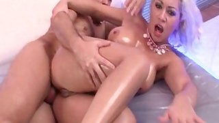 Horny pornstar in crazy rimming, big tits xxx video