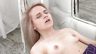 Teen Herda masturbating with her toy
