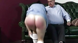 Raven Haired Teen Spanked
