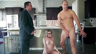 Passionate blonde kitchen sex in extreme modes