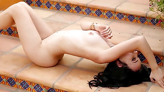 Sexy nude solo along sensual Lauren O'Conner