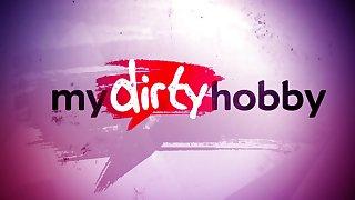 My Dirty Hobby - public latex fan fuck