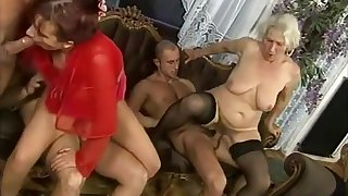 Horny Amateur movie with Mature, Group Sex scenes