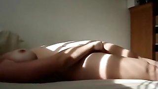 Exotic Amateur movie with Big Tits, Masturbation scenes