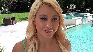 Bleached blonde hottie