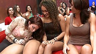Muscled stripper with lustful housewives