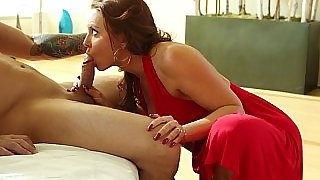 Mature lady in red Janet Mason